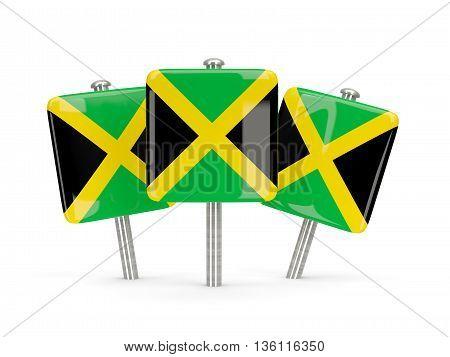 Flag Of Jamaica, Three Square Pins