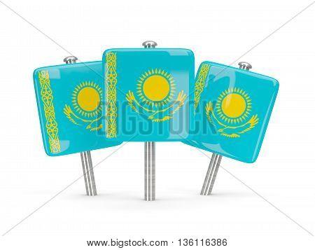 Flag Of Kazakhstan, Three Square Pins