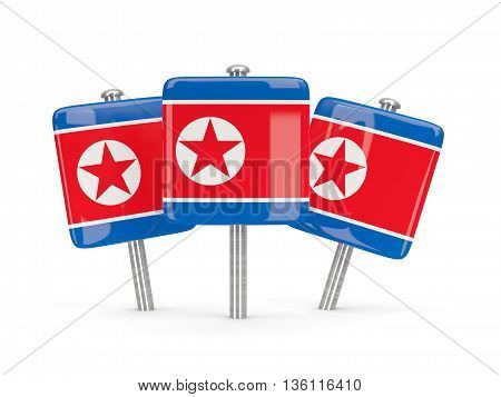 Flag Of Korea North, Three Square Pins