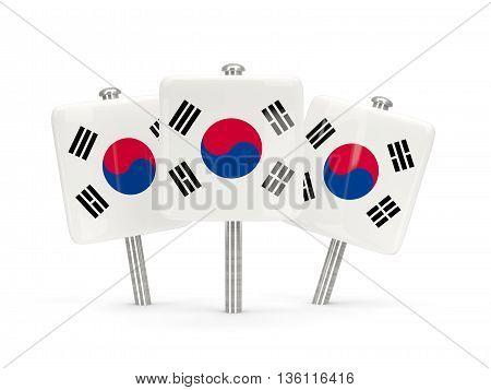 Flag Of Korea South, Three Square Pins