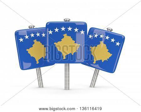 Flag Of Kosovo, Three Square Pins