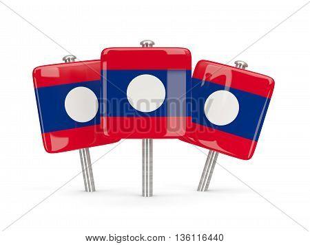 Flag Of Laos, Three Square Pins