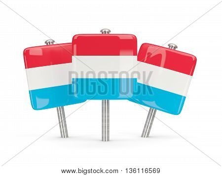 Flag Of Luxembourg, Three Square Pins