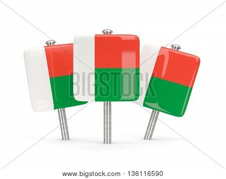 Flag Of Madagascar, Three Square Pins