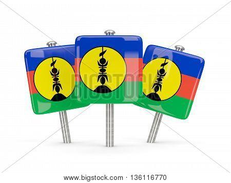 Flag Of New Caledonia, Three Square Pins