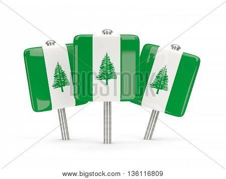 Flag Of Norfolk Island, Three Square Pins