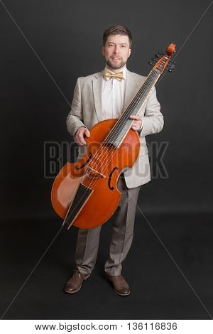portrait of a man with a viola da gamba