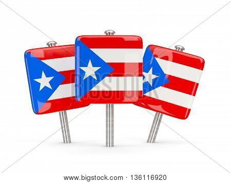 Flag Of Puerto Rico, Three Square Pins