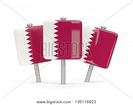 Flag Of Qatar, Three Square Pins