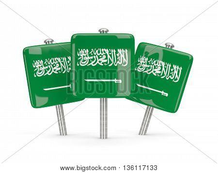 Flag Of Saudi Arabia, Three Square Pins