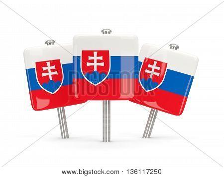 Flag Of Slovakia, Three Square Pins