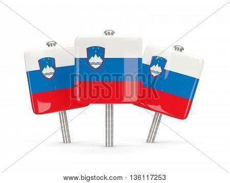 Flag Of Slovenia, Three Square Pins