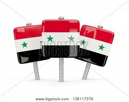 Flag Of Syria, Three Square Pins