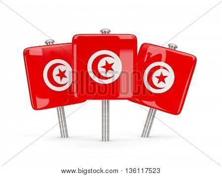Flag Of Tunisia, Three Square Pins
