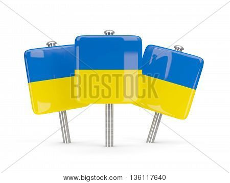 Flag Of Ukraine, Three Square Pins