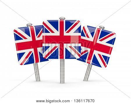 Flag Of United Kingdom, Three Square Pins