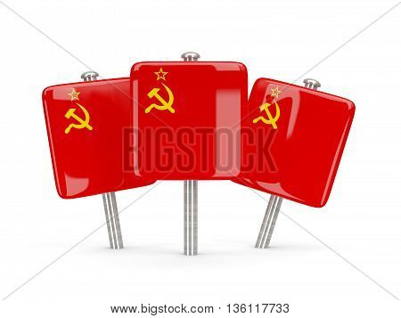 Flag Of Ussr, Three Square Pins