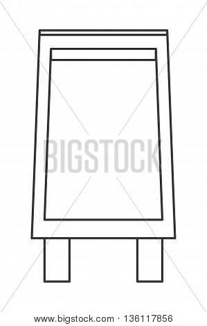 simple black line black board menu vector illustration