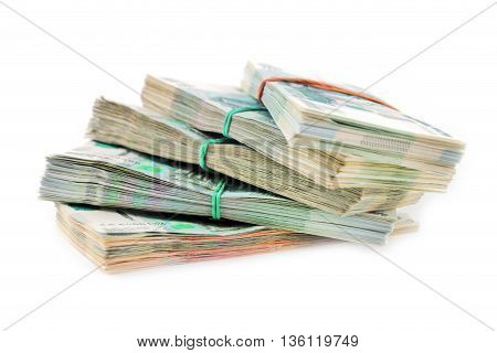 casually throw in a bunch of Russian paper money