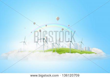 Alternative energy concept . Mixed media