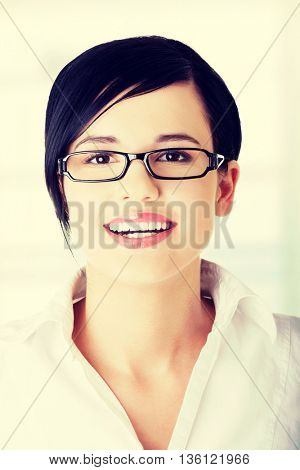 Young happy businesswoman portrait