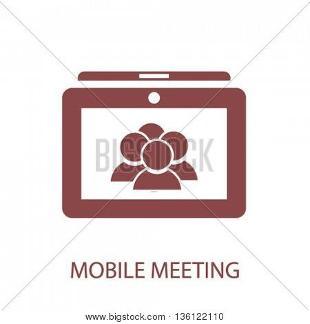 mobile meeting icon