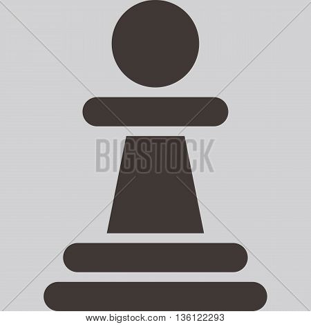 Silhouette of a chess piece - chess pawn icon