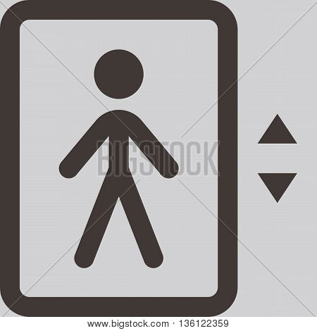 Elevator - up - down icon with people siluets