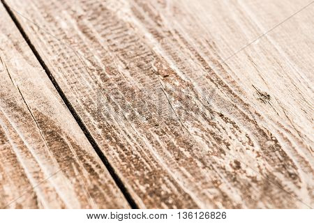 Brown on the veranda floorboards close up as background