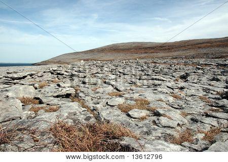 Blue Grey Rocks In Rocky Burren Landscape
