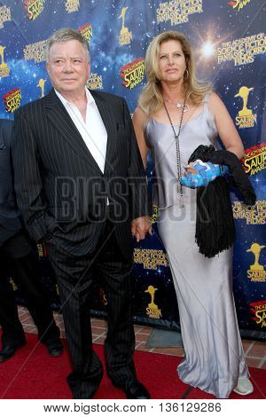 William Shatner and wife arrive at the 42nd Annual Saturn Awards on Wednesday, June 22, 2016 at the Castaway Restaurant in Burbank, CA.