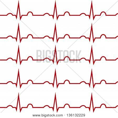 ECG on a white background, isolated, medical; graph.