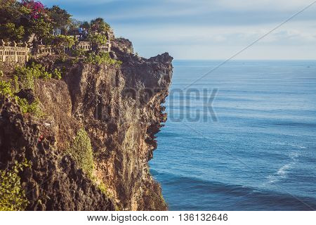 Uluwatu Tempel on the rocks, Bali, Indonesia