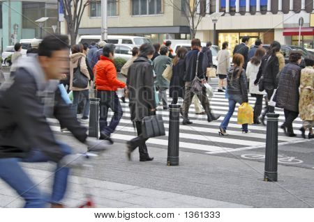 Crowded Downtown