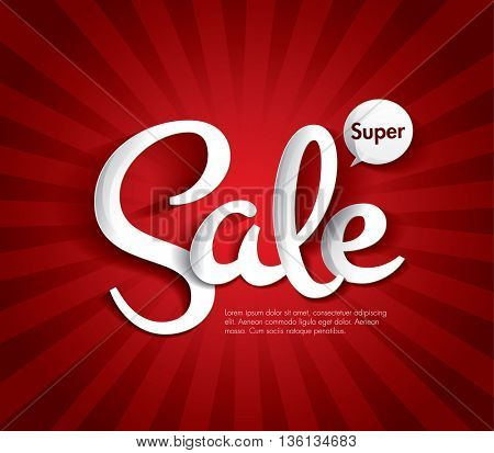 Sale concept vector banner. sale layout design. Vector illustration