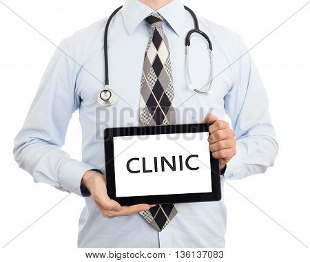 Doctor Holding Tablet - Clinic
