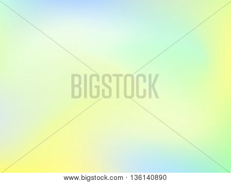 Abstract blur gradient background with trend pastel green, yellow and blue colors for deign concepts, web, presentations and prints. Vector illustration.