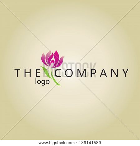 lotus logo ideas design vector on background