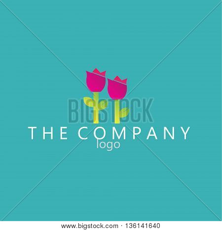 tulip logo ideas design vector on background
