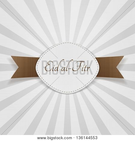 Eid al-Fitr muslim festive Badge. Vector Illustration