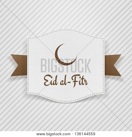 Eid al-Fitr muslim greeting Tag. Vector Illustration