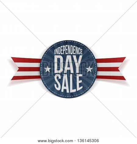Independence Day Sale circle Banner. Vector Illustration