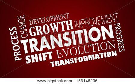Transition Change Evolution Progress Word Collage Illustration