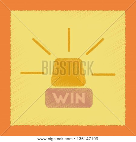 flat shading style icon poker Win lamp
