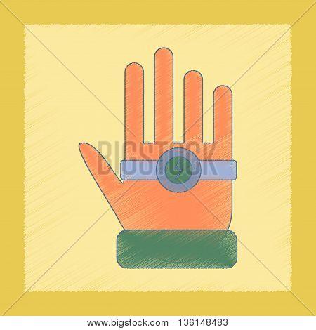 flat shading style icon Kids toy bracelet hand