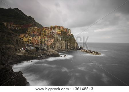 Manarola (Cinque Terre) in Italy (Long Exposure)