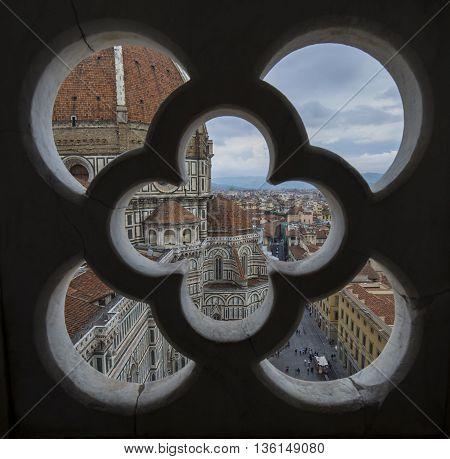 Florence View of the City from Giotto's Bell Tower in Italy