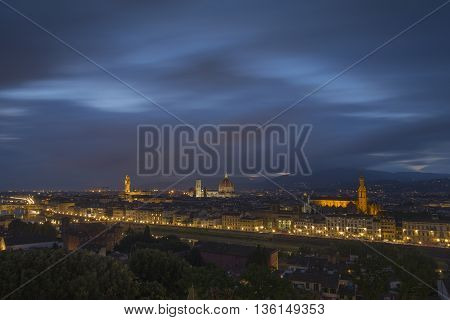 Florence View of the City from Piazzale Michelangelo in Italy