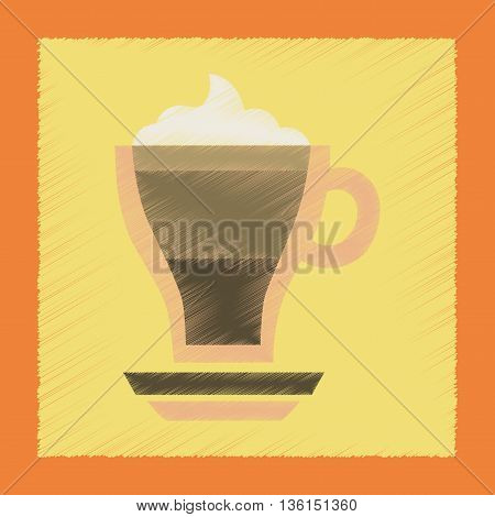 flat shading style icon cup coffee mocha
