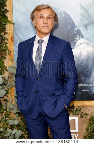 Christoph Waltz at the Los Angeles premiere of 'The Legend Of Tarzan' held at the Dolby Theatre in Hollywood, USA on June 27, 2016.
